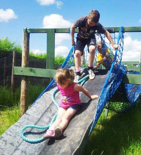 Kids on the slide