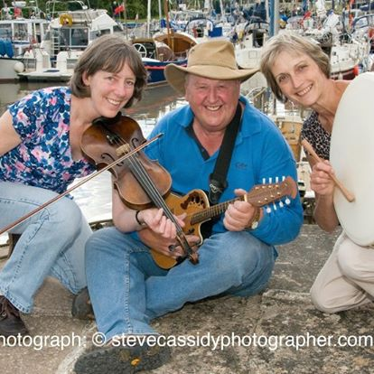 A photo of Banshee folk group, due to play at Elton Late Night Special