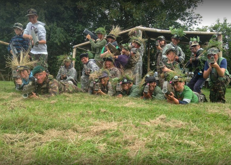 A photo showing Laser Combat and Bushcraft at Elton