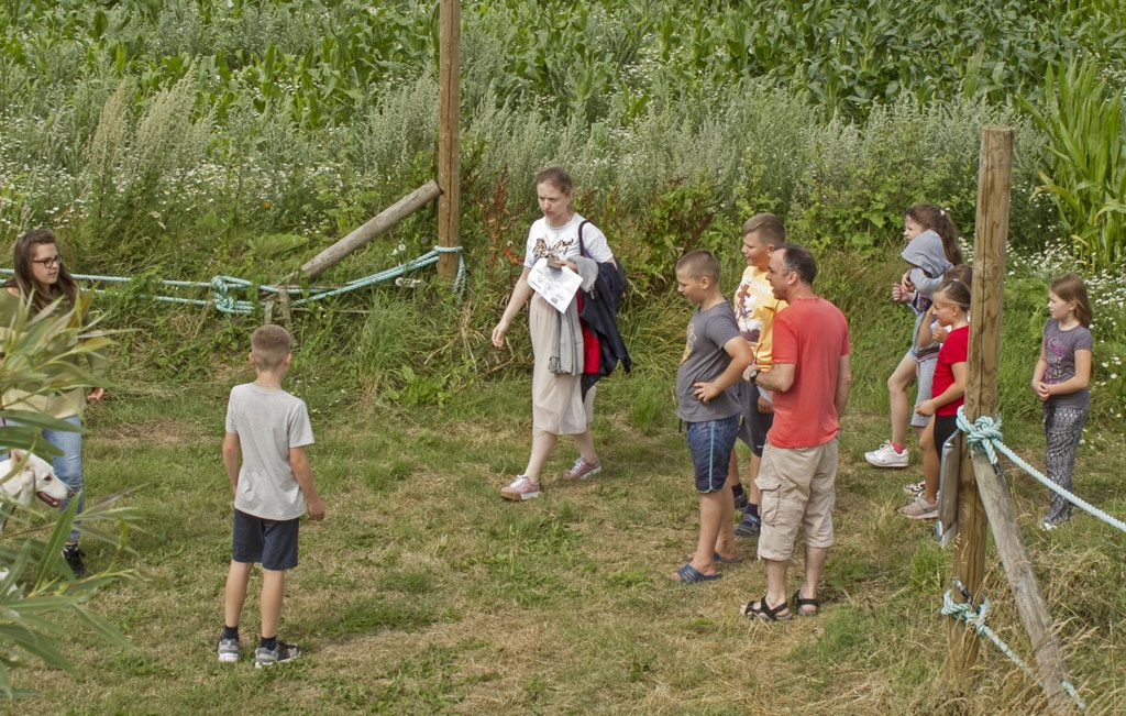 A photo of young people from Chernoblyl at the Mazes