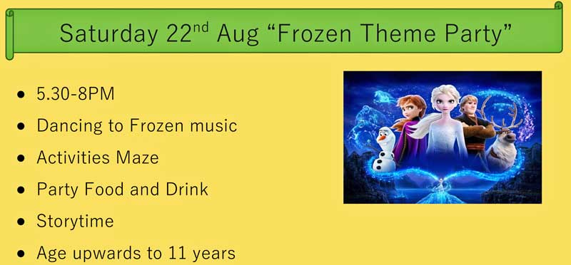 An image for Frozen Theme Party - age up to 11 years