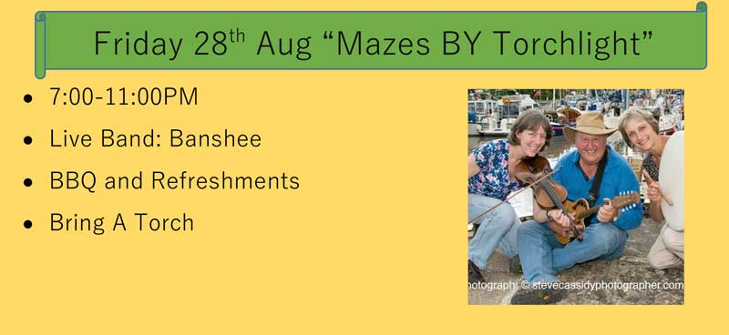 An image for Mazes by Torchlight - Friday 28 August 2020
